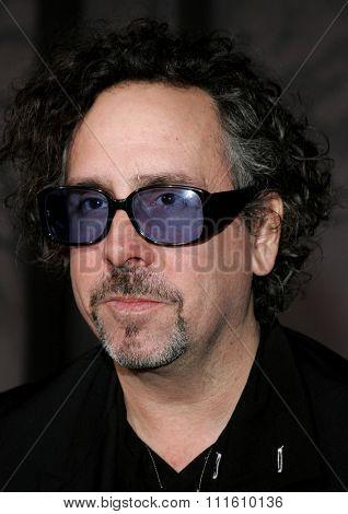 Tim Burton attends the World Premiere of