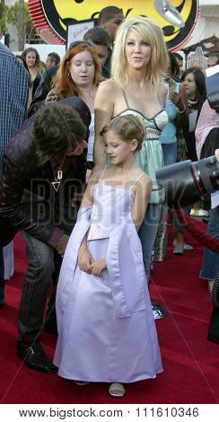 HOLLYWOOD, CALIFORNIA - June 13 2005. Richie Sanbora, Heather Locklear and daughter Ava Elizabeth attend at the