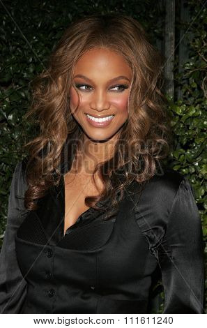 Tyra Banks at the Los Angeles premiere of 'The Producers' held at the Westfield Century City in Century City, USA on December 12, 2005.