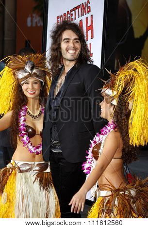 Russell Brand attends the World Premiere of