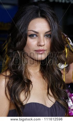 Mila Kunis attends the World Premiere of