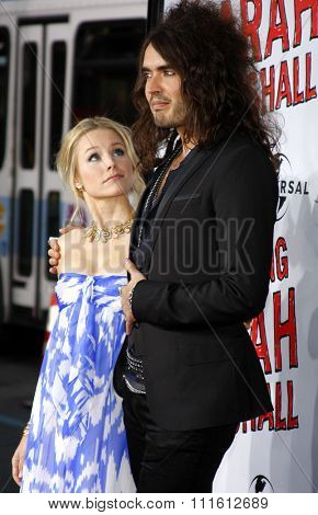 Russell Brand and Kristen Bell attend the World Premiere of