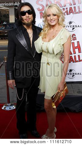 April 10, 2008. Dave Navarro and Stormy Daniels at the World Premiere of