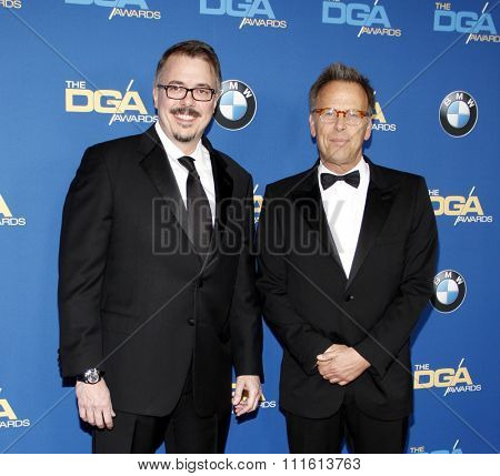 Vince Gilligan and Mark Johnson at the 66th Annual Directors Guild Of America Awards held at the Hyatt Regency Century Plaza in Los Angeles, USA on January 25, 2014.