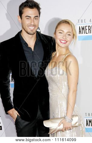 Scotty McKnight and Hayden Panettiere at the 2012 American Music Awards held at the Nokia Theatre L.A. Live in Los Angeles, USA on November 18, 2012.