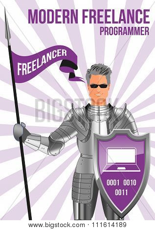 Programmer Freelancer Design Concept