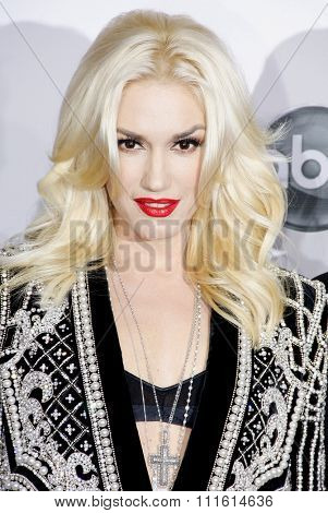 Gwen Stefani at the 2012 American Music Awards held at the Nokia Theatre L.A. Live in Los Angeles, USA on November 18, 2012.