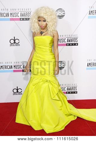 Nicki Minaj at the 2012 American Music Awards held at the Nokia Theatre L.A. Live in Los Angeles, USA on November 18, 2012.