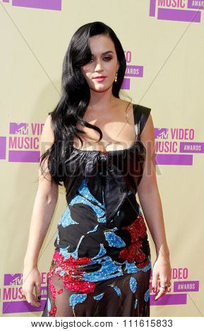 Katy Perry at the 2012 MTV Video Music Awards held at the Staples Center in Los Angeles, USA on September 6, 2012.