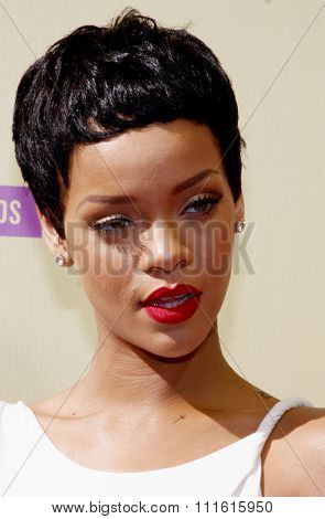 Rihanna at the 2012 MTV Video Music Awards held at the Staples Center in Los Angeles, USA on September 6, 2012.