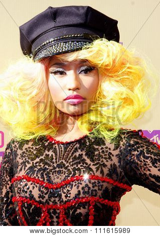 Nicki Minaj at the 2012 MTV Video Music Awards held at the Staples Center in Los Angeles, USA on September 6, 2012.