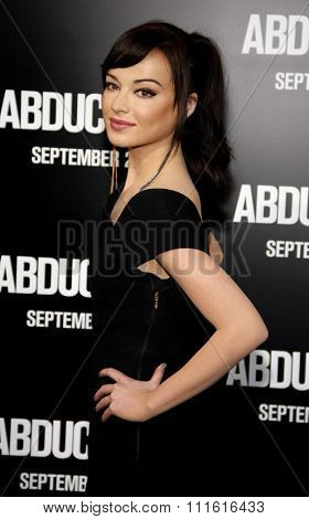Ashley Rickards at the Los Angeles premiere of 'Abduction' held at the Grauman's Chinese Theatre in Hollywood, USA on September 15, 2011.