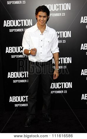 BooBoo Stewart at the Los Angeles premiere of 'Abduction' held at the Grauman's Chinese Theatre in Hollywood, USA on September 15, 2011.