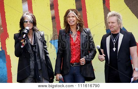 Steven Tyler, Joey Kramer, Joe Perry and Tom Hamilton of Aerosmith at the Aerosmith