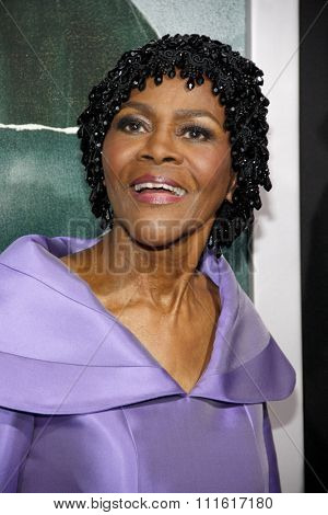 Cicely Tyson at the Los Angeles premiere of 'Alex Cross' held at the ArcLight Cinemas in Los Angeles, USA on October 15, 2012.