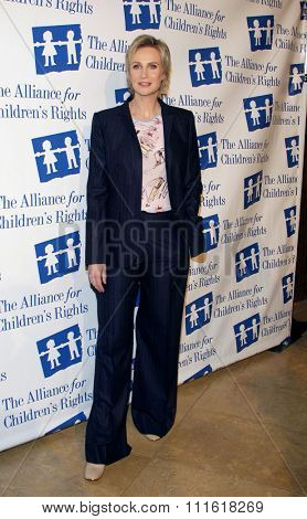 Jane Lynch at the Alliance for Children's Rights Dinner Honoring Kevin Reilly held at the Beverly Hilton Hotel in Beverly Hills, USA on March 1, 2012.
