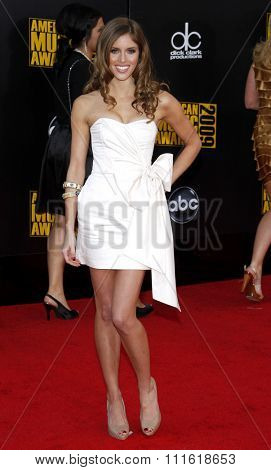 Kayla Ewell at the 2009 American Music Awards at Nokia Theatre L.A. Live in Los Angeles, USA on November 22, 2009.