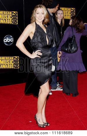 Colbie Caillat at the 2009 American Music Awards at Nokia Theatre L.A. Live in Los Angeles, USA on November 22, 2009.