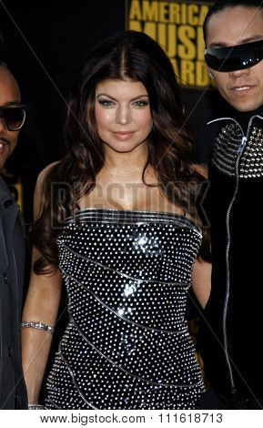 Fergie at the 2009 American Music Awards at Nokia Theatre L.A. Live in Los Angeles, USA on November 22, 2009.
