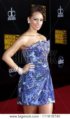 Alicia Keys at the 2009 American Music Awards at Nokia Theatre L.A. Live in Los Angeles, USA on November 22, 2009.