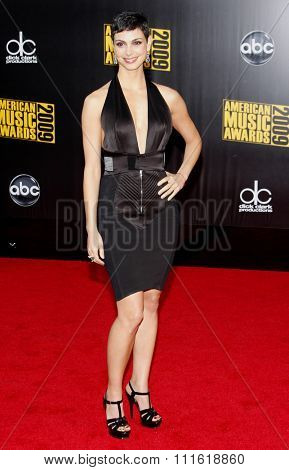 Morena Baccarin at the 2009 American Music Awards at Nokia Theatre L.A. Live in Los Angeles, USA on November 22, 2009.