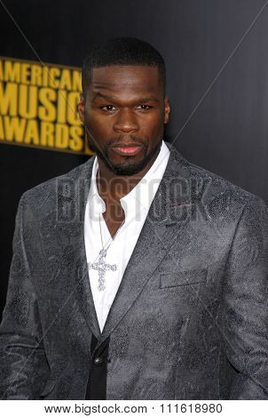50 Cent at the 2009 American Music Awards at Nokia Theatre L.A. Live in Los Angeles, USA on November 22, 2009.