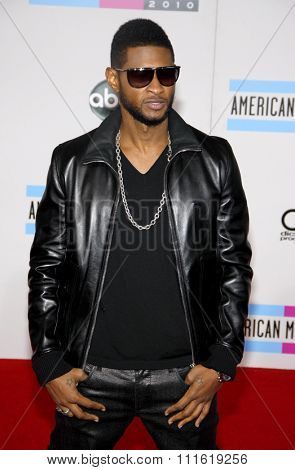 Usher at the 2010 American Music Awards held at Nokia Theatre L.A. Live in Los Angeles, USA on November 21, 2010.