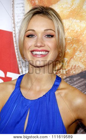 Katrina Bowden at the Los Angeles premiere of 'American Reunion' held at the Grauman's Chinese Theatre in Hollywood, USA on March 19, 2012.