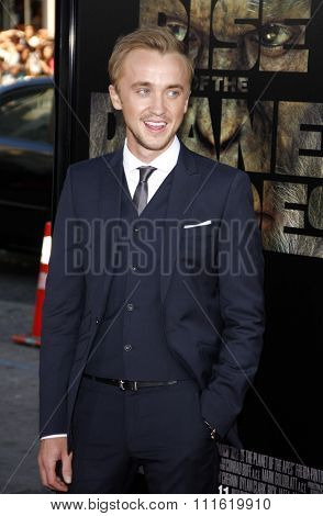 Tom Felton at the Los Angeles premiere of 'Rise Of The Planet Of The Apes' held at the Grauman's Chinese Theatre in Hollywood, USA on July 28, 2011