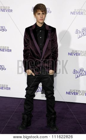 Justin Bieber at the Los Angeles Premiere of