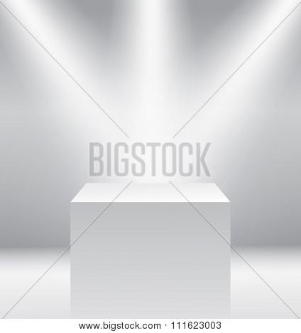 Pedestal with light source isolated