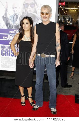 HOLLYWOOD, CA, USA - OCTOBER 26, 2015: Connie Angland and Billy Bob Thornton at the Los Angeles premiere of 'Our Brand Is Crisis' held at the TCL Chinese Theatre in Hollywood.