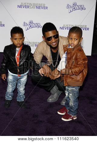 February 8, 2011. Usher at the Los Angeles premiere of