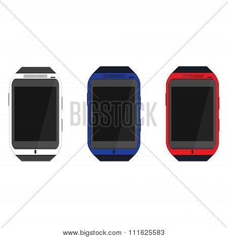 Smartwatch icon set