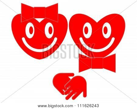 Smiling hearts