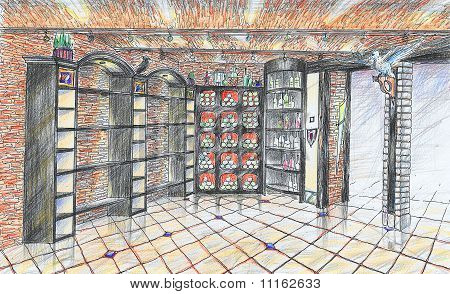 Interior Of Wineshop