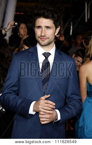Matt Dallas at the Los Angeles premiere of 'The Twilight Saga: Breaking Dawn Part 1' held at the Nokia Theatre L.A. Live in Los Angeles, USA on November 14, 2011.