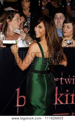 Jennifer Love Hewitt at the Los Angeles premiere of 'The Twilight Saga: Breaking Dawn Part 1' held at the Nokia Theatre L.A. Live in Los Angeles, USA on November 14, 2011.