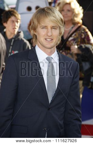 Owen Wilson at the Los Angeles premiere of 'Cars 2' held at the El Capitan Theatre in Hollywood, USA on June 18, 2011.