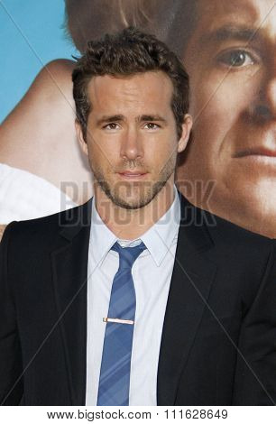 WESTWOOD, CALIFORNIA - August 1, 2011. Ryan Reynolds at the Los Angeles premiere of