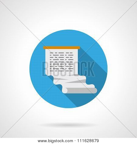 Web article round vector icon flat color style