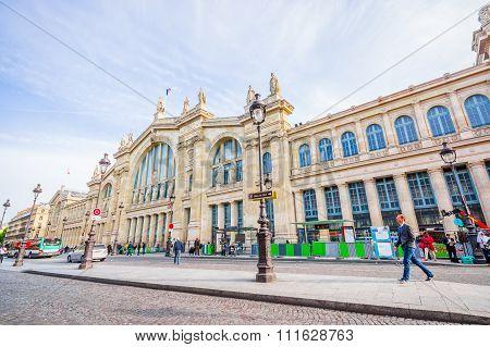 Gare du Nord station in Paris, France