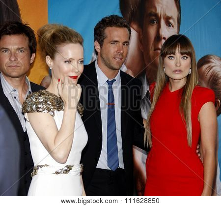 Leslie Mann, Jason Bateman, Olivia Wilde and Ryan Reynolds at the Los Angeles Premiere of