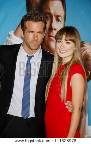 Olivia Wilde and Ryan Reynolds at the Los Angeles Premiere of