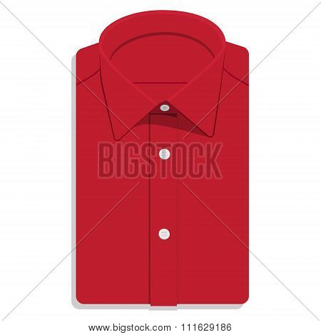 Red Folded Shirt