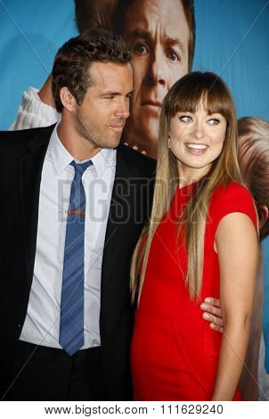 Ryan Reynolds and Olivia Wilde at the Los Angeles Premiere of