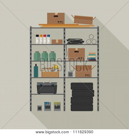 Metal storage vector illustration.