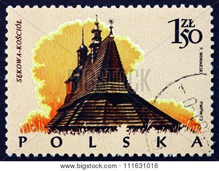 Postage Stamp Poland 1974 Church, Sekowa