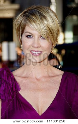 Jenna Elfman at the Los Angeles premiere of 'Larry Crowne' held at the Grauman's Chinese Theater in Hollywood, USA on June 27, 2011.