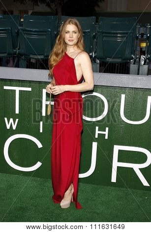 LOS ANGELES, CALIFORNIA - September 19, 2012. Amy Adams at the Los Angeles premiere of 'Trouble With The Curve' held at the Mann's Village Theatre, Los Angeles.